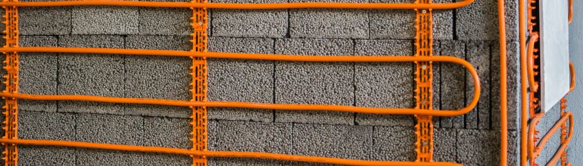 Fußbodenheizung Baustelle Hausbau